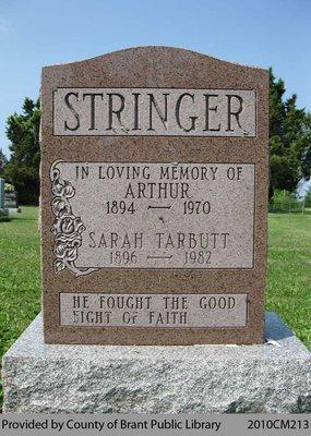 Stringer Family Headstone