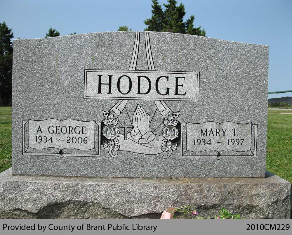 Hodge Family Headstone (Range 15-16)