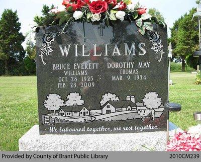 Williams Family Headstone (Range 16-10)