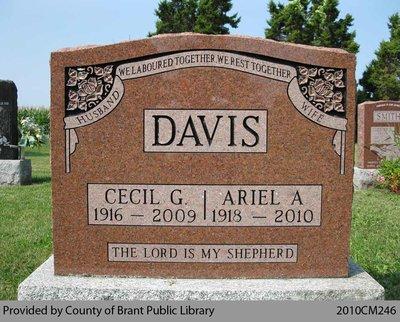 Davis Family Headstone