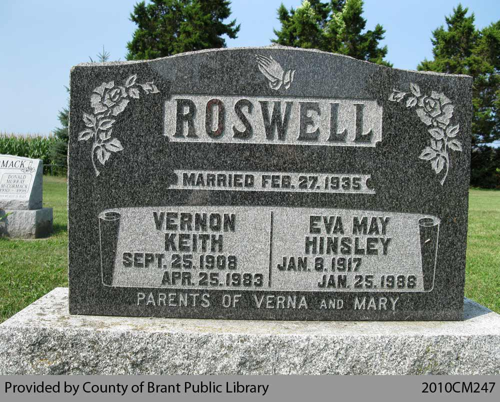 Roswell Family Headstone