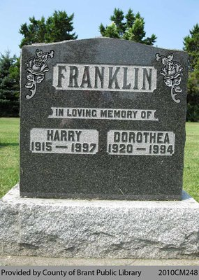 Franklin Family Headstone