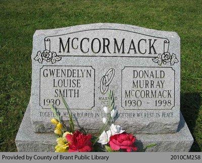 McCormack Family Headstone