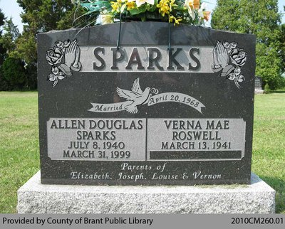 Sparks Family Headstone