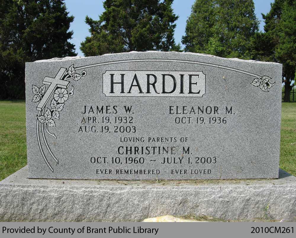 Hardie Family Headstone (Range 18-8)
