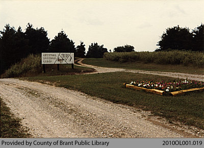 Entrance to Crystal Springs Bible Camp