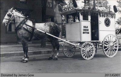 Paris Creamery Horse & Wagon