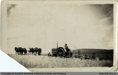 Six Horse Hitch and Tractor With Driver