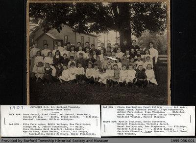 1907 Cathcart S.S. No. 24 Class Photo