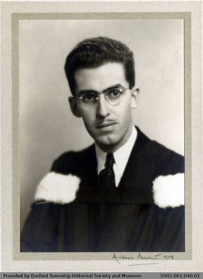 Graduation Photograph of Mel Robertson