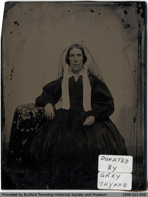 Glass Plate Portrait of a Woman
