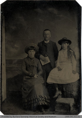 Annie, John, and Carrie Yates