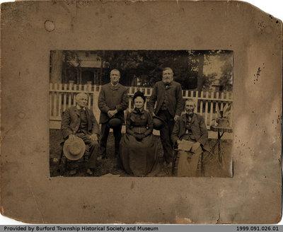 Portrait of Four Men and a Woman