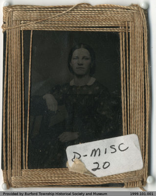 Photograph of Unidentified Woman in Thread Frame