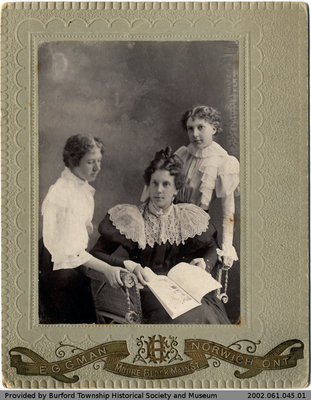 Alma Ledger, Allie Woodward, and Dolly Robertson