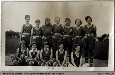 1932 Burford Blue Birds Team Photo