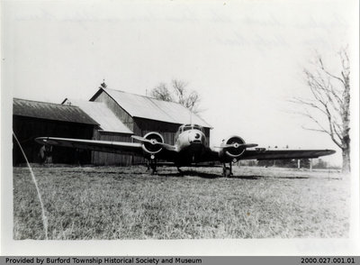 Airplane on Alger Brown's Farm