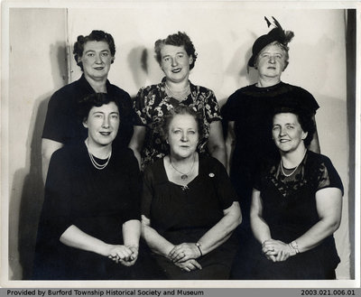 Burford Women's Institute 1950-51 Executive