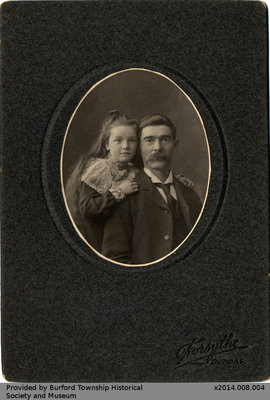 Photo of an Unidentified Man and Child