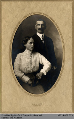 Photo of an Unidentified Man and Woman