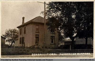 Postcard Depicting Burford Congregational Parsonage
