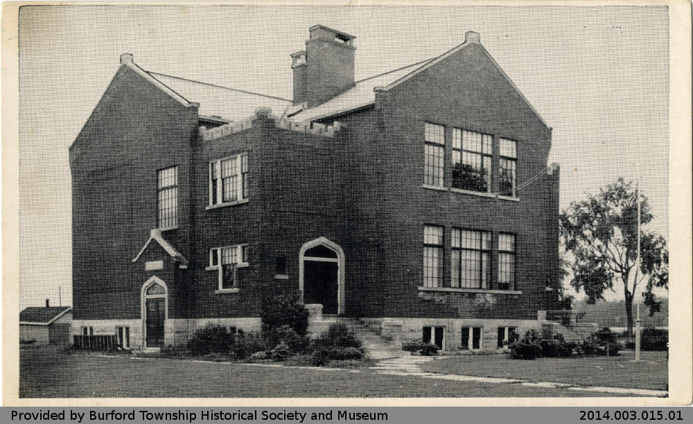 Postcard Depicting Burford District High School