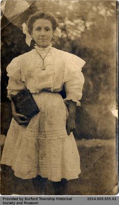 Postcard Depicting Clara Yates