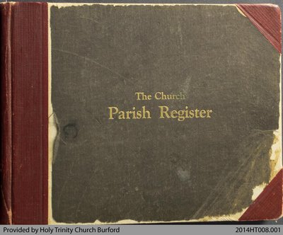 Parish Register for Holy Trinity Church Burford 1935-53