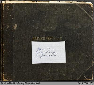 Holy Trinity Church Burford Preachers Book 1901-14