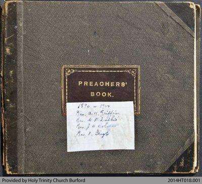 Holy Trinity Church Burford Preachers Book 1890-1904