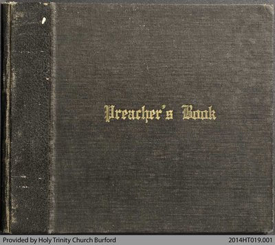 Holy Trinity Church Burford Preachers Book 1944-59