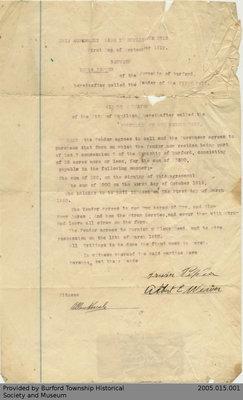 Land Agreement Between Irwin Pepper and Albert E. Weaver