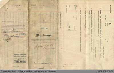 Mortgage Agreement Between Summers Cooper and Thomas Wood