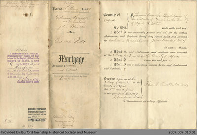 Mortgage Agreement Between Catharine Blasdell and Edward Petit