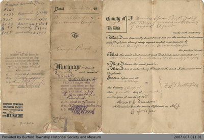 Mortgage Agreement Between Russel and Summers Cooper and George Pool