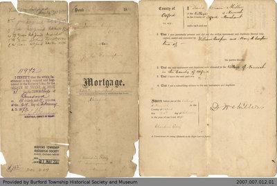 Mortgage Agreement Between William Cooper and James Herbert Farrington