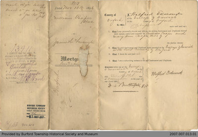 Mortgage Agreement Between William Cooper and James Herbert Farrington