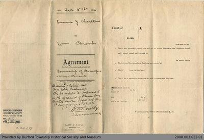 Land Sale Agreement Between Emma J. Charlton and William  Brooks