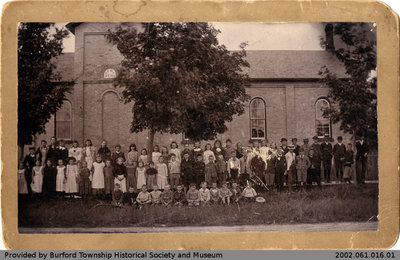 Burford Public School 1893 Class Photo