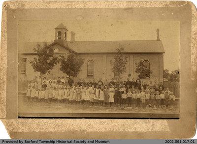 Burford Public School 1886 Class Photo