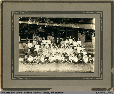 Burford Public School 1921 Class Photo