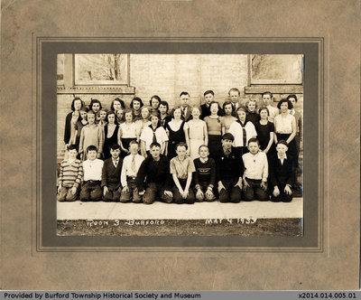 Burford Public School 1933 Class Photo