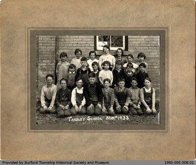 Tansley School 1933 Class Photo