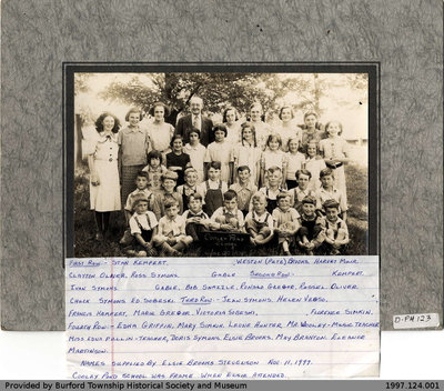 Cooley Pond School 1938 Class Photo