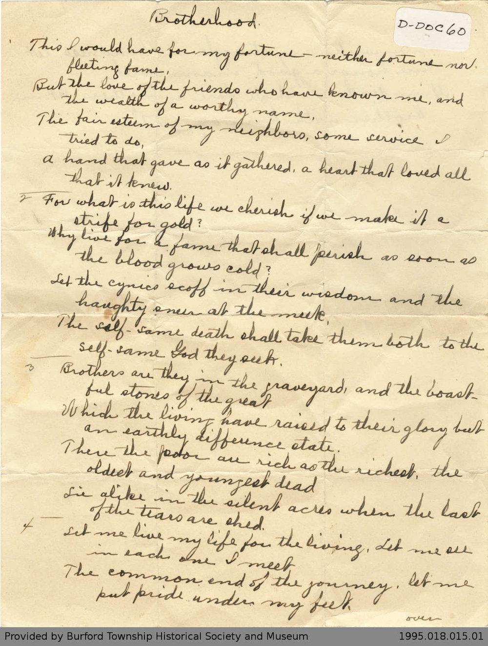 Unidentified Poem