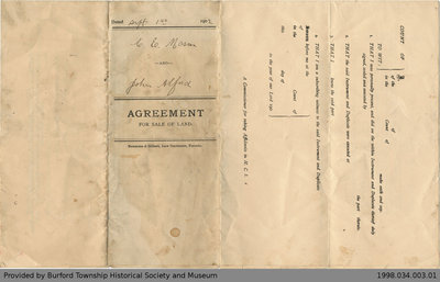 Land Sale Agreement Between Charles E. Mason and John Alford