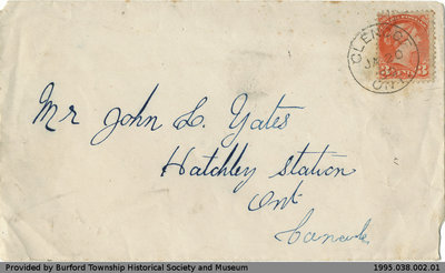 Letter Written to John Yates from G. M. Rush