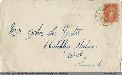 Letter Written to John Yates from G. M. Rush