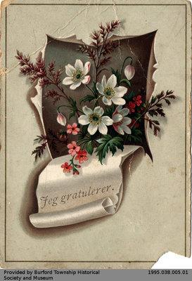 Christmas Card Sent to John Yates