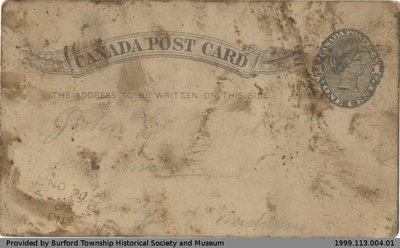 Postcard Sent to John Yates from A. Wright
